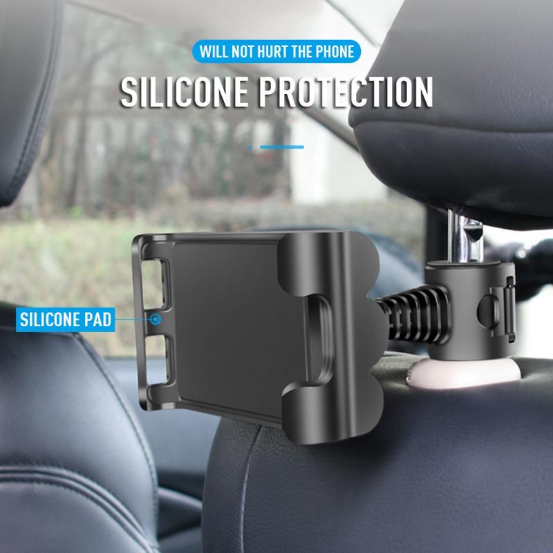 Универсальный автомобильный держатель для смартфона и планшета из сплава, автомобильный держатель для заднего сиденья, Автомобильный кронштейн для iPad, автомобильные аксессуары|Подставки для планшетов|   | АлиЭкспресс