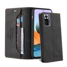 Kılıf Redmi için not 10 10S 9 9S 9C 9T 8 7 Pro 8T 7A 8A NFC güç lüks manyetik deri cüzdan Flip cep telefonu kılıfı telefonu kitap kapağı