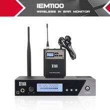 XTUGA IEM1100 весь мета одноканальный UHF Беспроводной в ухо монитор системы 40 частот выбор идеально подходит для сцены