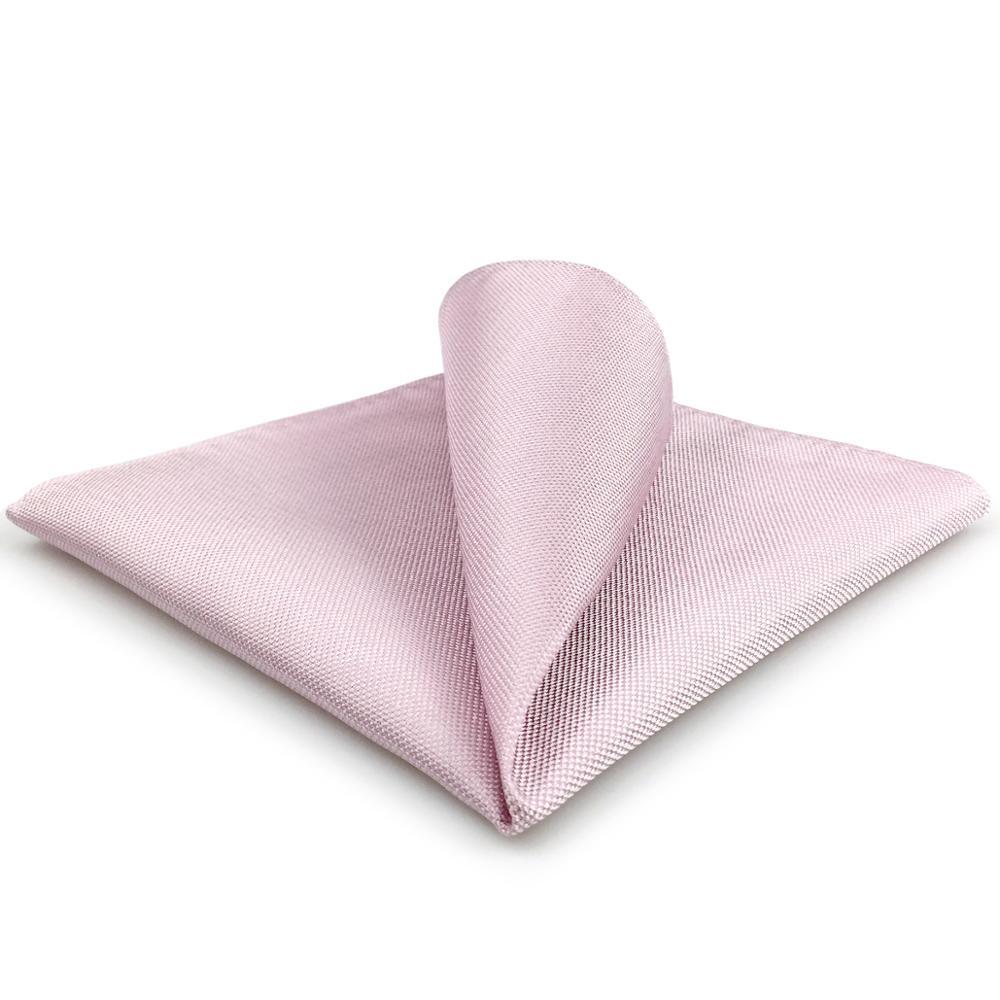FH08 Solid Pink Mens Pocket Square Silk Handkerchief Wedding Gift