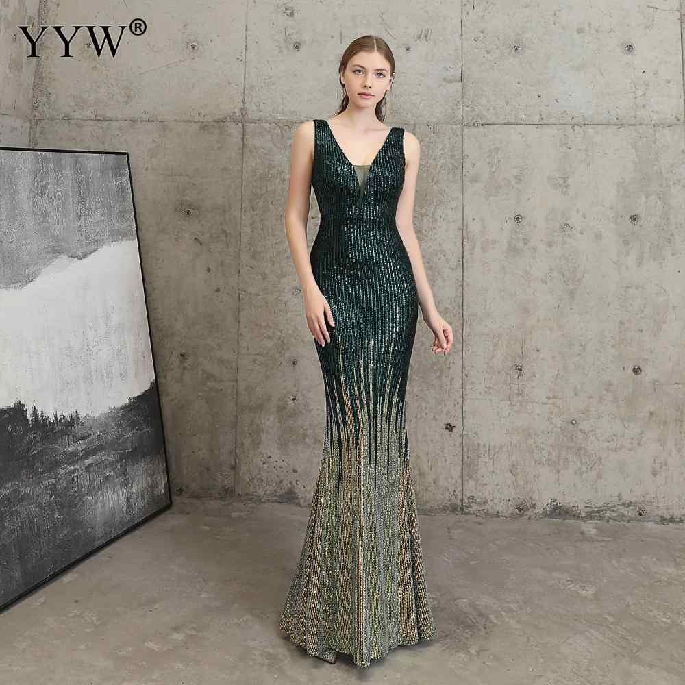 2020 Frauen Pailletten Kleid Abendkleid Weibliche Ärmellose Pailletten Damen Meerjungfrau Kleid Abend party kleid Vestidos De Festa
