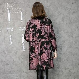 Image 2 - Novmoop משרד ליידי בתוספת גודל עור אמיתי כבשי מעיל רוח חולצות chaqueta mujer cuero ג נואינו LT2845