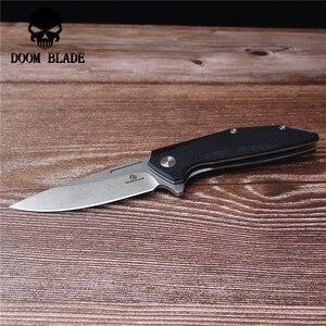 Image 4 - 200mm 100% d2 lâmina, bola faca dobrável, 60hrc, faca de caça com punho g10, sobrevivência ao ar livre tático edc ferramenta