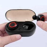 Y50 TWS cuffie Wireless 5.0 auricolare cuffie con cancellazione del rumore audio Stereo musica auricolari In-ear per Android IOS Smart Phone