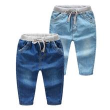 2020 nowe letnie berbeć chłopcy spodnie jesień chłopcy miękkie cienkie dżinsy dla chłopców spodnie dzieci odzież dla dzieci dżinsy 2-5 lat tanie tanio Na co dzień Pasuje prawda na wymiar weź swój normalny rozmiar 8574 Zipper fly Stałe REGULAR light JEANS 90-100-110-120-130-140