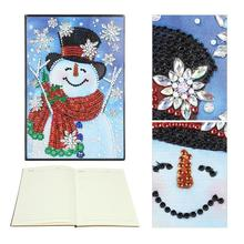 DIY Christmas Snowman Special Shaped Diamond Painting 60 Pages A5 Notebook painting school supplies for students