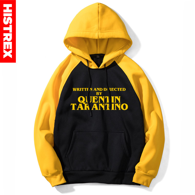 HISTREX New Men Hoodie Quentin Tarantino WRITTEN AND DIRECTED BY QUENTIN TARANTINO Yellow Women Hoody Sweatshirts 5
