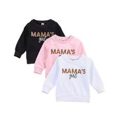 Sweatshirt Girls Baby Kids Toddler Spring Letter O-Neck Cotton for 0-6 Long-Sleeve Autumn