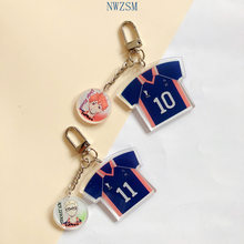 Anime Haikyuu! Acryl Sleutelhanger Cartoon Figuur Haikyuu Manga Hinata Syouyou Cosplay Props Hangend Key Ring(China)