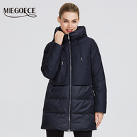 MIEGOFCE 2019 Winter Women's Collection Women's Warm Jacket and Gives a Wind Resistant Collar Hooded Classic Sport Coat