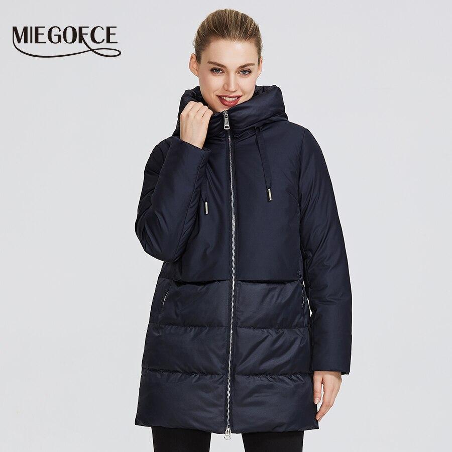 MIEGOFCE 2019 hiver Collection femme veste chaude pour femme et donne un manteau de Sport classique à capuche col coupe-vent
