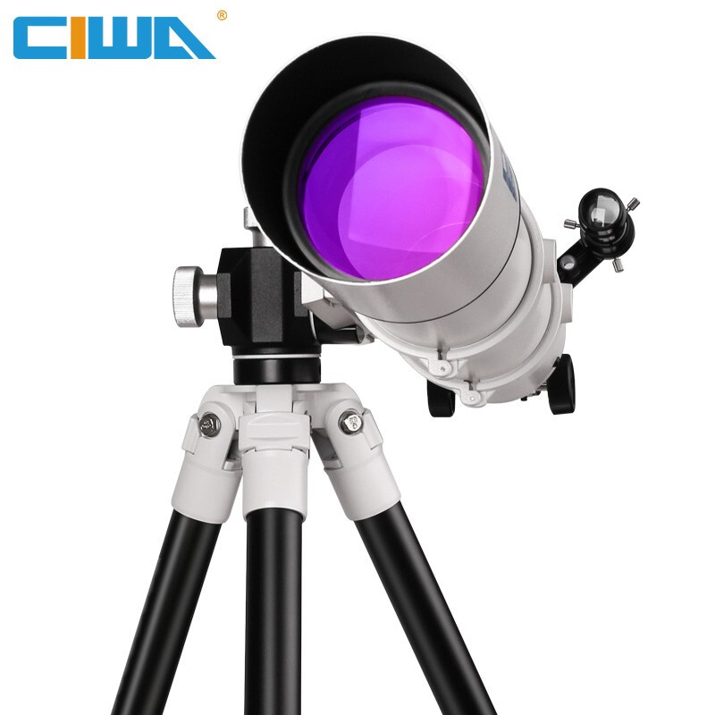 FD80 Professional Telescope With Portable Tripod Sight Outdoor For Observing Moon Stars
