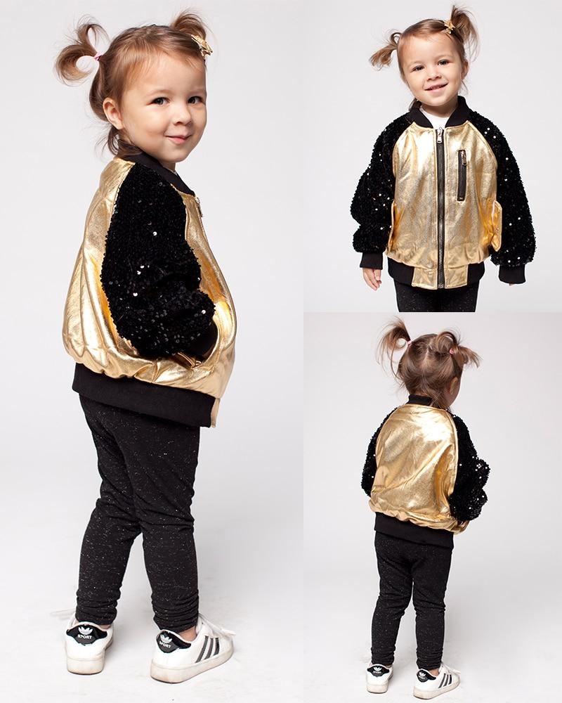 Babyinstar Boutique 3-7Y Fuax veste en cuir pour filles vêtements enfants tenues enfants vestes d'hiver manteaux fille bébé vêtements