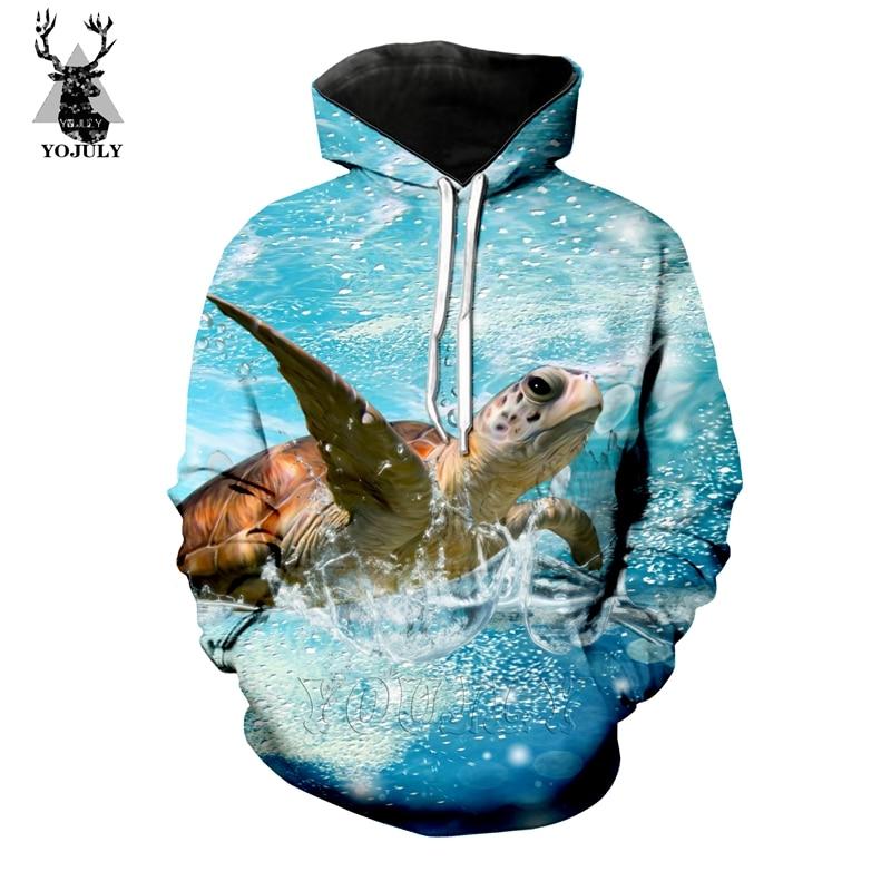 Marine Life Sea Turtle T Shirt Fashion Men's Sets 3D Animal Swim Funny T-Shirts/hoodie/Sweatshirt Hip Hop O-neck Streetwear Tops