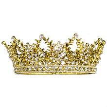 Gold Silver Bridal Beauty Rhinestone Headdress Crystal Headbands Women Hair Jewelry Wedding Accessories Crystal Tiaras