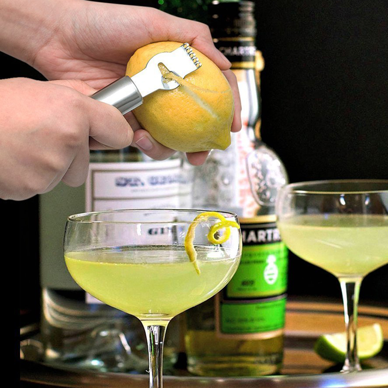 Lemon Peeler Stainless Steel Lemon Zester Grater Lime Orange Citrus Fruit Grater Peeling Knife Kitchen Gadgets Bar Accessories