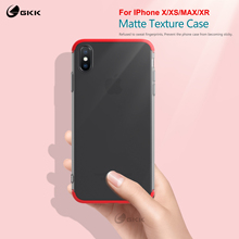 GKK Luxury Case for iphone X XS Xs Max XR Translucent Fashion Hard PC Ultra Thin Matte Cover For Coque Fundas