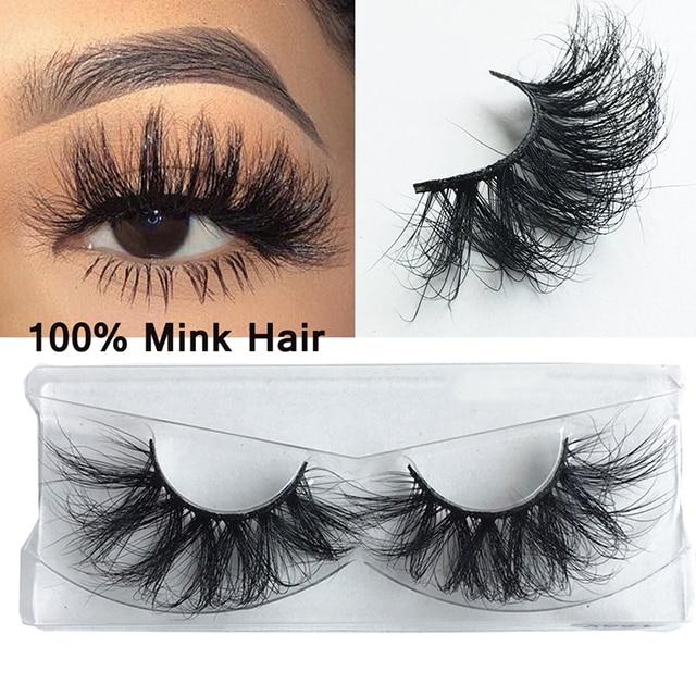 3D 25mm Mink Hair False Eyelashes Natural Long Wispies Lashes Handmade Criss-cross Eyelash Extension Makeup Tools in Bulk