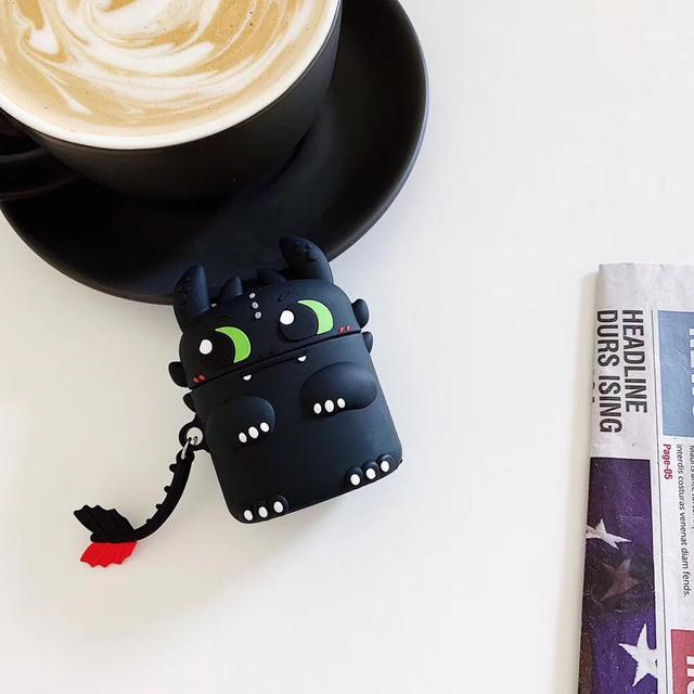 3D How to train your dragon Night Fury Soft Silicone Case For Apple NEW Airpods 1/2/3 Pro Cover Wireless Bluetooth Earphone case