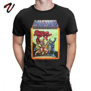 Мужская футболка с рисунком из аниме HeMan Master Of The Universe, новые Забавные футболки с коротким рукавом и круглым вырезом, футболки из 100% хлопка с п...