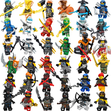 1 шт. фигурки ниндзя Кай Джей Зейн Коул Ллойд кармадон нинджагоед строительные блоки совместимы с legoinglys игрушки для детей мальчиков