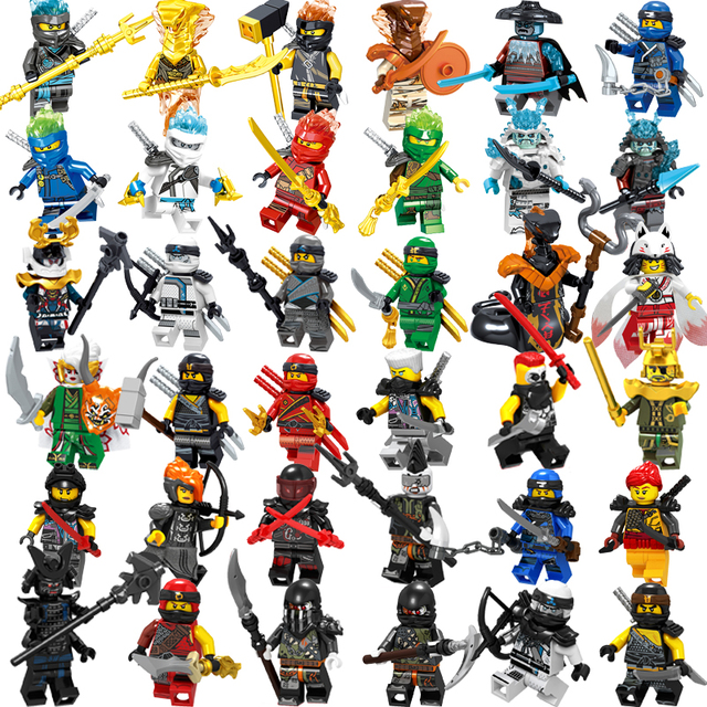 1pcs Ninja Kai Jay Zane Cole Lloyd Carmadon Ninjagoed figures Building Blocks Compatible With legoinglys Toys For Children boys