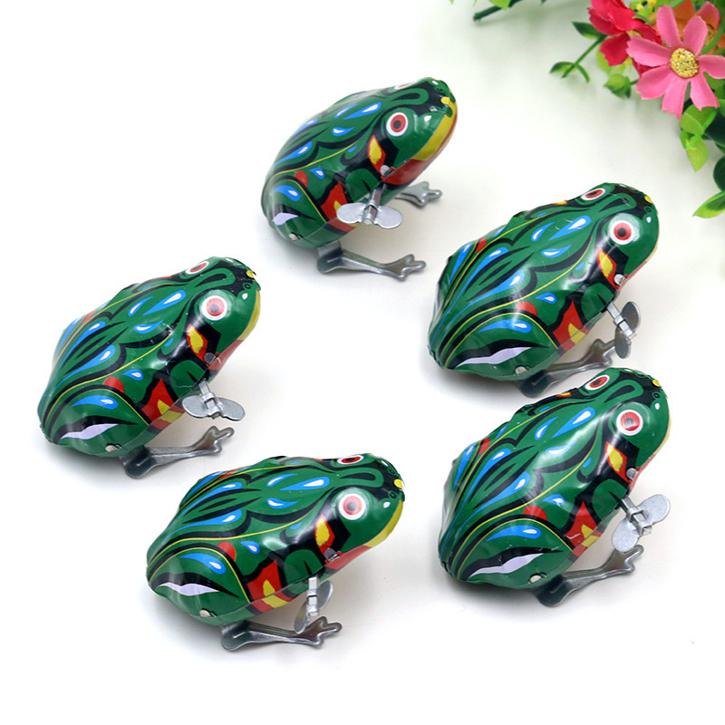 Winding Spring Classic 80 Nostalgic Toy Algam Frog Leap Frog Gift CHILDREN'S DAY Children's Day Supply Of Goods