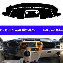 Auto Car Dashboard Cover DashMat Carpet Cape For Ford Transit 2002   2009 Center Console Protector Sun Shade 2008 2007 2006 2005