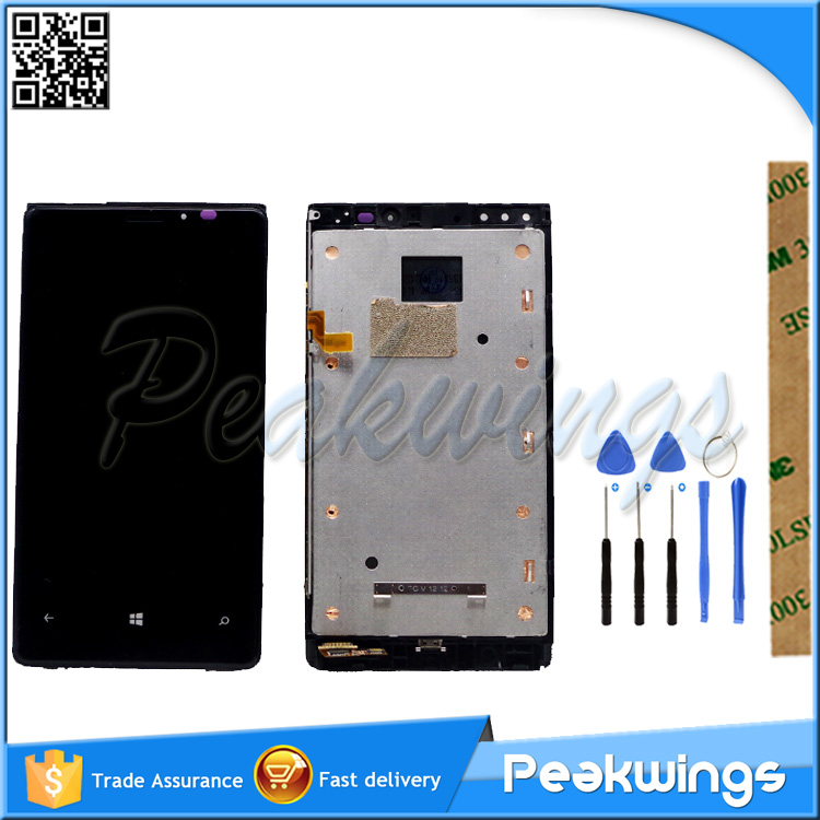 LCD <font><b>Screen</b></font> For Nokia <font><b>Lumia</b></font> 920 RM-822 RM-821 RM-<font><b>820</b></font> LCD Display <font><b>Screen</b></font> With Touch Assembly With Frame image