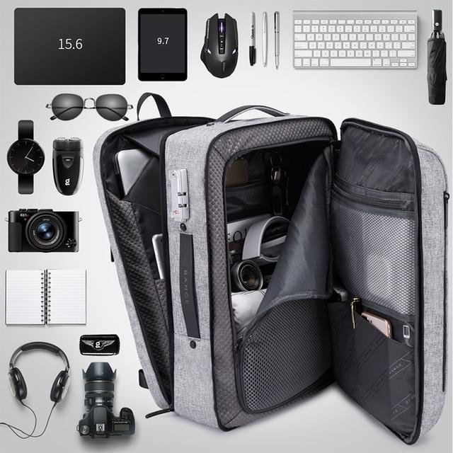 Bange Men Multifunction Waterproof USB charging Backpack Anti-thief TSL lock 15.6inch Laptop Backpacks Teenager Fashion Backpack 4