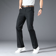 Casual-Pants Stretch Slim Korean-Version Men's Summer Spring Micro-Flare Fiared The of
