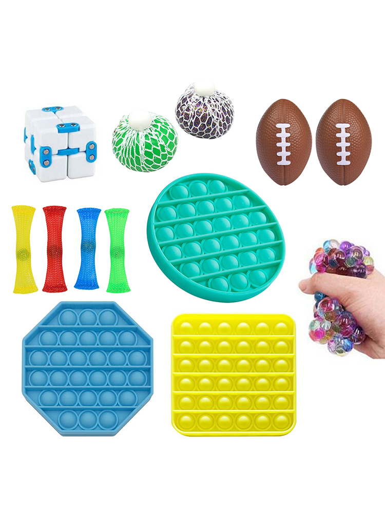 3/13Pcs Sensory Toy Squeeze Toys Autism Squishy Stress Reliever Toys For Children And Adults Funny Anti-stress Pops Bubble Toys enlarge