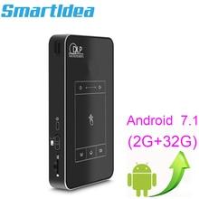 أحدث Android7.1.2 Mini DLP LED السينما المنزلية جهاز عرض ذكي 2G RAM كامل HD 1080P متعاطي المخدرات بلوتوث AirPlay Miracast AC3 Proyector