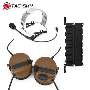 Image 5 - COMTAC TAC SKY oreillettes en silicone, double passe, casque tactique, réduction du bruit, pick up, pour militaire