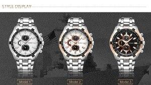 Image 5 - Erkek Kol Saati Curren Marca Della Vigilanza del Quarzo di Affari degli uomini orologi impermeabile Relogio Masculino casual orologio da polso Zegarek Meski