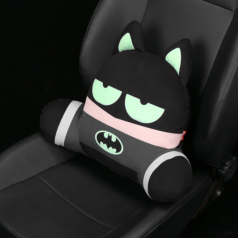 Car seat Lumbar Support Pillow 3D Cartoon Super Hero Seat Cushion Neck Pillow Waist Universal Back Rest Lumbar Auto Accessory