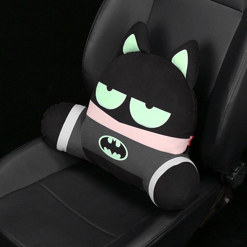 assento de carro apoio lombar travesseiro 3d dos desenhos animados super heroi assento almofada pescoco travesseiro