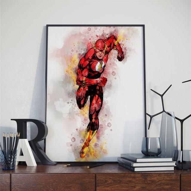 Strona główna dekoracje ścienne plakat akwarela Marvel DC superhero Iron Man Hulk Spider-Man Batman obraz na płótnie bez ramki o114