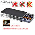 CellDeal soporte de la cápsula de café cajón de almacenamiento cápsulas de café organizador estante para 40 Uds cápsulas de café inoxidable de la pantalla de café