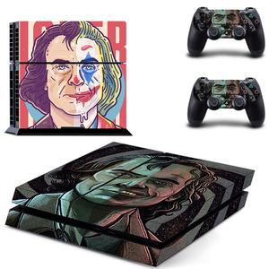 Image 2 - DC Film Joker PS4 çıkartmalar PlayStation 4 cilt Sticker oyun çıkartmaları PlayStation 4 için PS4 konsolu ve denetleyici skins vinil