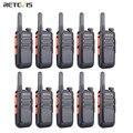 Портативная мини-рация Retevis RT669, 10 шт., портативное радио PMR446, двухстороннее радио-коммуникатор PTT, рация для охоты, отеля PMR