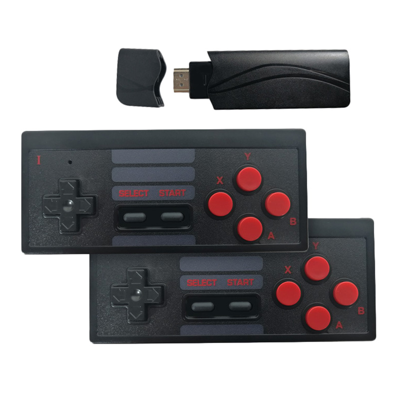 USB Wireless Handheld TV Video Game Console Build in 628 Classic Game 8 Bit Mini Video Console Support HDMI Output