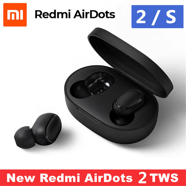 الأصلي شاومي ريدمي إيردوتس 2 S TWS بلوتوث سماعة ستيريو باس BT 5.0 eeadphone مع هيئة التصنيع العسكري يدوي سماعات الأذن AI التحكم