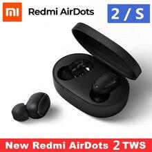 オリジナルxiaomi redmi airdots 2 s tws bluetoothイヤホンステレオ低音bt 5.0 eeadphonesとマイクハン愛制御