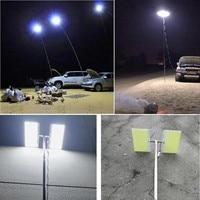 3.75M Travel Lamp12V regulowany teleskopowy LED wędka światło zewnętrzne pilot Camping piesze wycieczki grill lampa podróżna droga