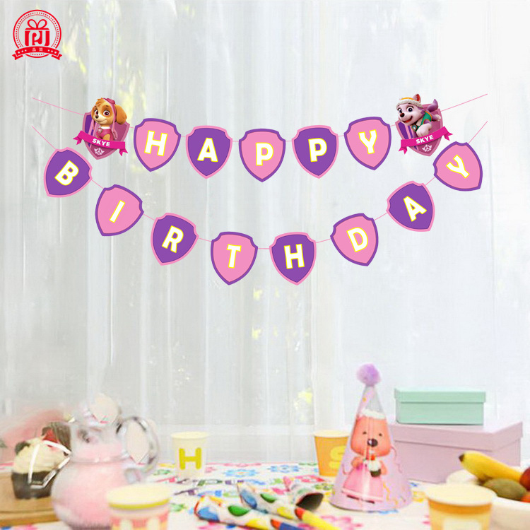 Paw Patrol Cartoon Pattern Birthday Holiday Party Children Birthday Party Supplies Party Set Event Decoration Birthday Toys Set
