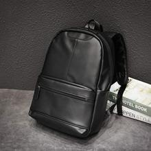 Brand Men Backpack Leather School Backpack Bag Fashion Waterproof Travel Bag Casual Leather Book bags Male стоимость