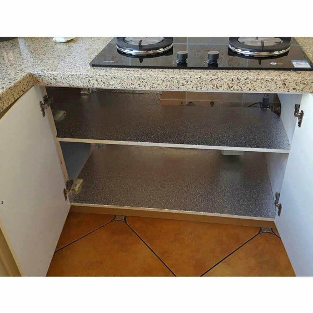 40x100cm מטבח שמן הוכחה עמיד למים מדבקות אלומיניום רדיד מטבח ארון תנור עצמי דבק קיר מדבקת DIY טפט 1030