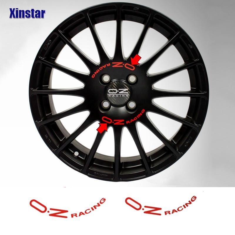 8 шт OZ Racing колес Стикеры для OZ ралли спица для колеса наклейки черный Универсальный авто тюнинг аксессуары