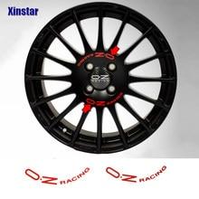 8 sztuk OZ Racing Wheel naklejka na OZ Rally Racing Wheels Spoke naklejki czarny uniwersalny Auto tuning akcesoria
